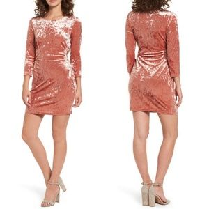 Everly Cutout Crushed Velvet Party Dress Auburn
